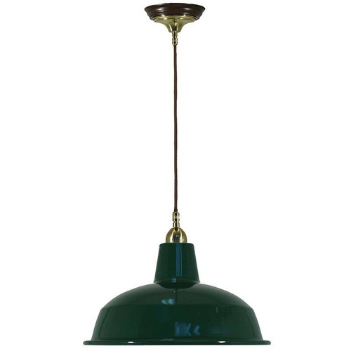 Warehouse Cloth Cord Green Shade Pendant Light