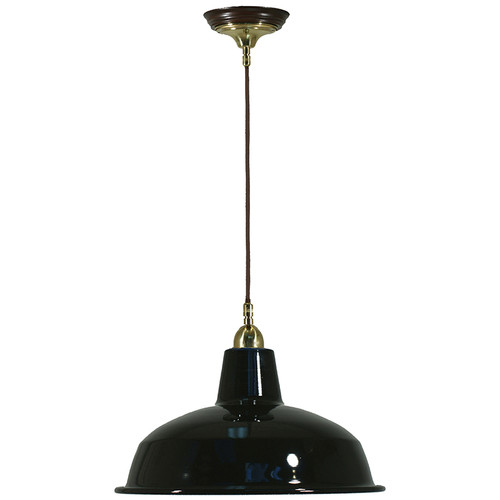 Warehouse Cloth Cord Black Shade Pendant Light