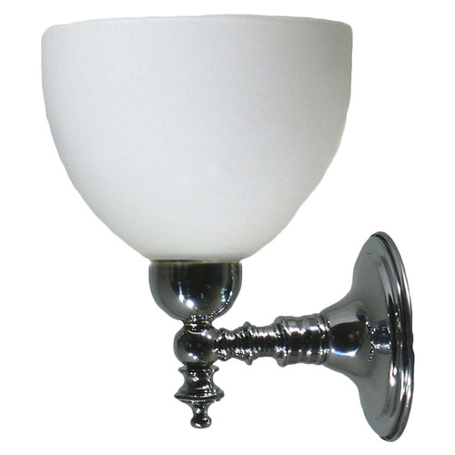 Kos Chrome Opal Matt Up Wall Light