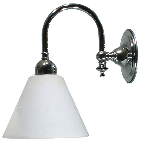 Lox Chrome Opal Matt Down Wall Light