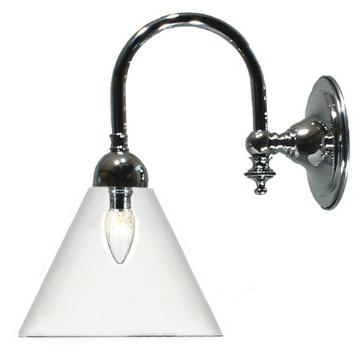 Lox Chrome Clear Shade Down Wall Light