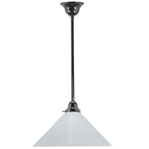Industrial Chrome White Pendant Light
