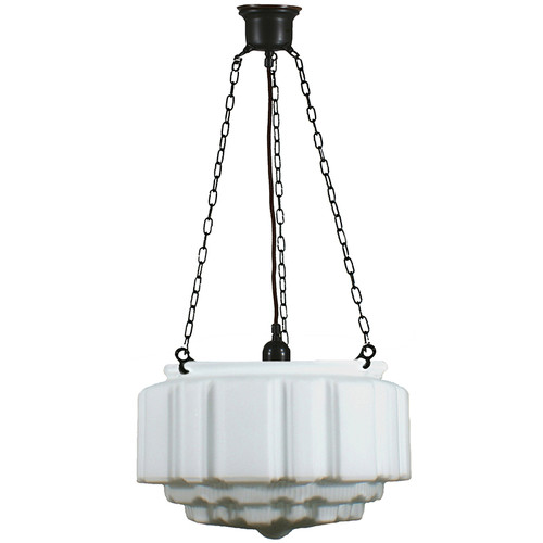 St Kilda 3 Chain Black Opal Matt Suspension Light