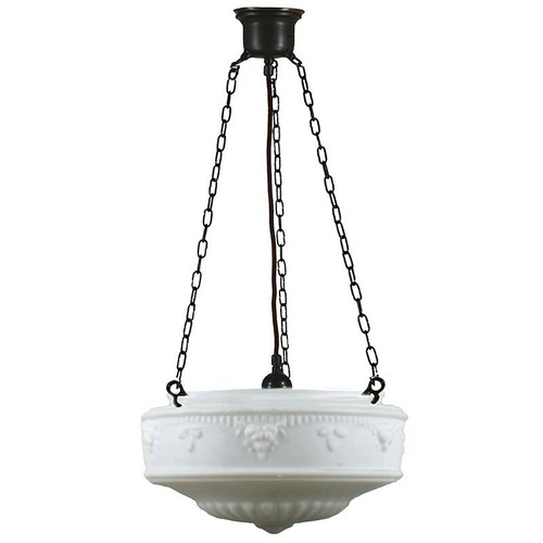 Senator 3 Chain Black Opal Matt Suspension Light