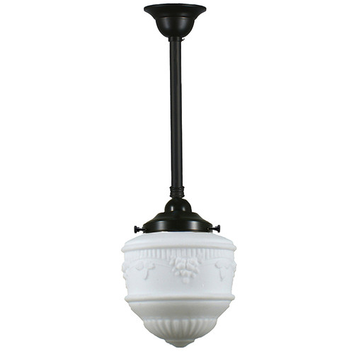 Senator Small Black Rod Opal Matt Pendant Light