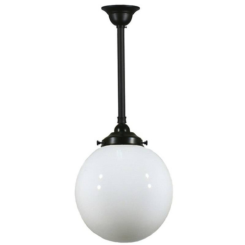 Sphere Black Patina Opal Glass Pendant Light
