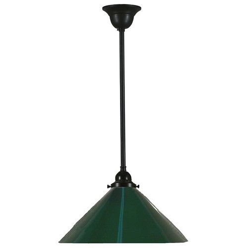 Industrial Black Green Pendant Light