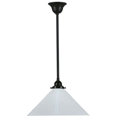 Industrial Black White Pendant Light