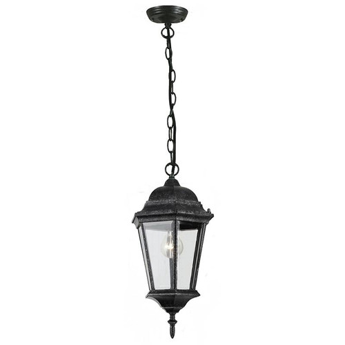 Junction Exterior Antique Black Chain Pendant Light
