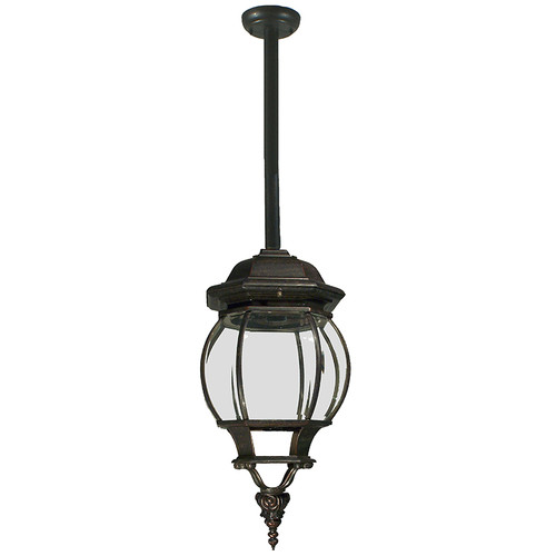 Flinders Exterior Antique Bronze Rod Pendant Light