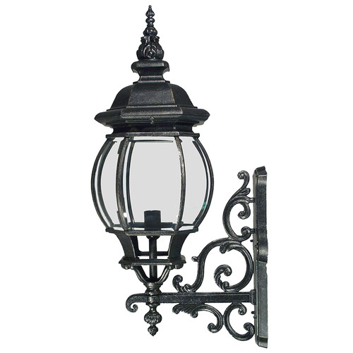 Flinders Exterior Antique Black Coach Light