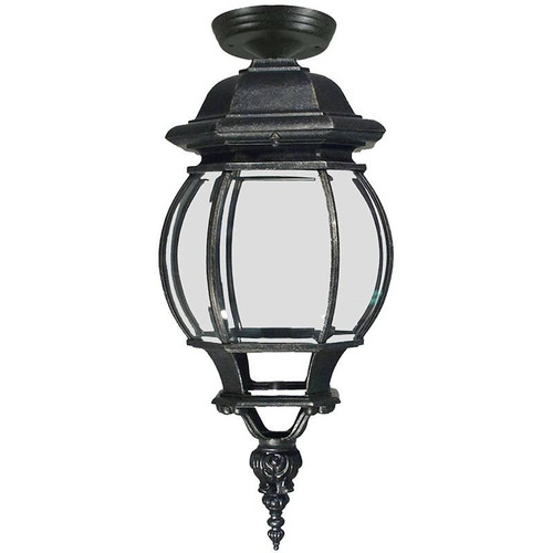 Flinders Exterior Antique Black Under Eave Light