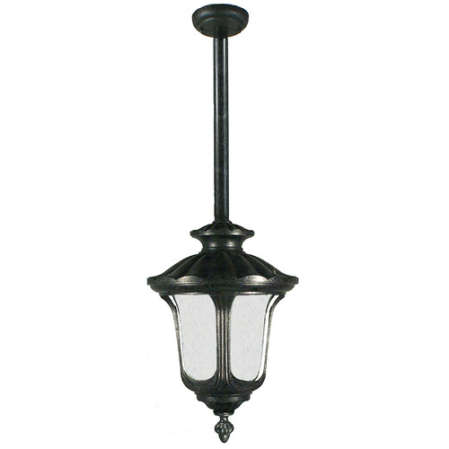 Waterford Exterior Antique Black Rod Pendant Light