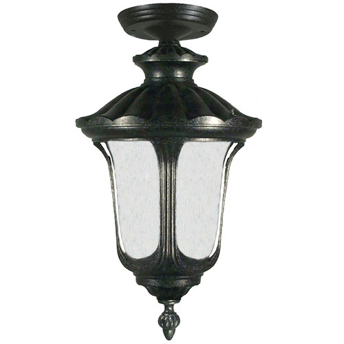 Waterford Exterior Antique Black Under Eave Light