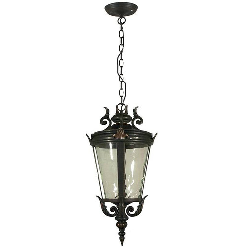 Albany Exterior Antique Bronze Chain Pendant Light