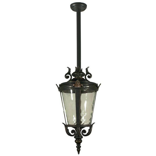 Albany Exterior Antique Bronze Rod Pendant Light