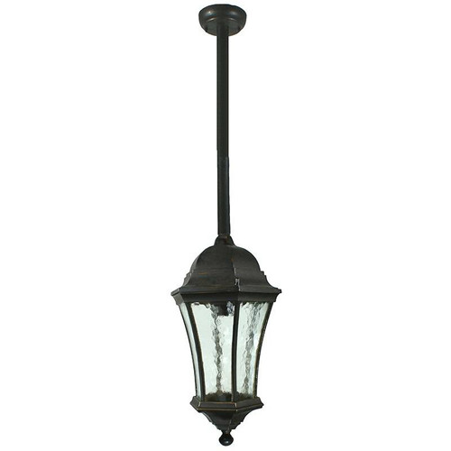 Strand Exterior Antique Bronze Rod Pendant Light