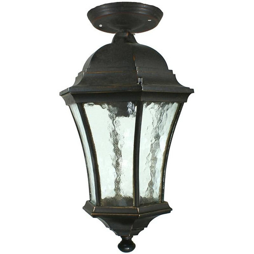 Strand Exterior Antique Bronze Under Eave Light