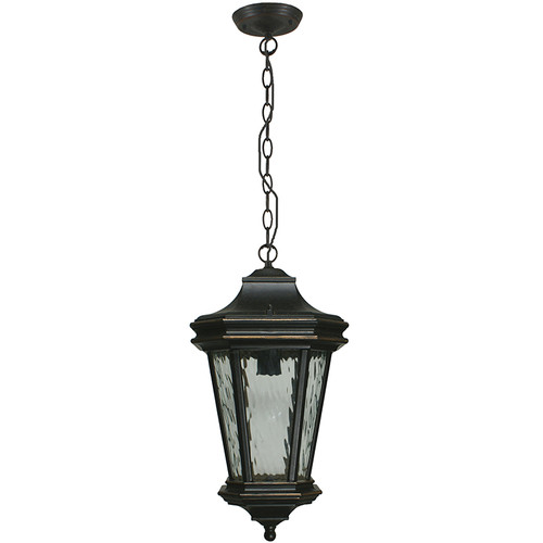 Tilburn Exterior Antique Bronze Chain Pendant Light