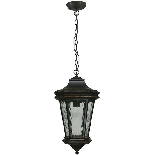 Tilburn Exterior Antique Bronze Chain Pendant Light