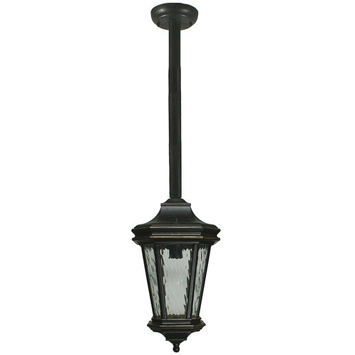 Tilburn Exterior Antique Bronze Rod Pendant Light