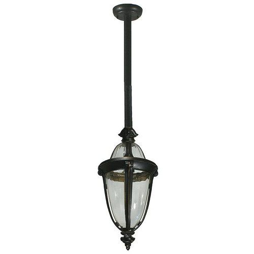 Mayfair Exterior Antique Bronze Rod Pendant Light