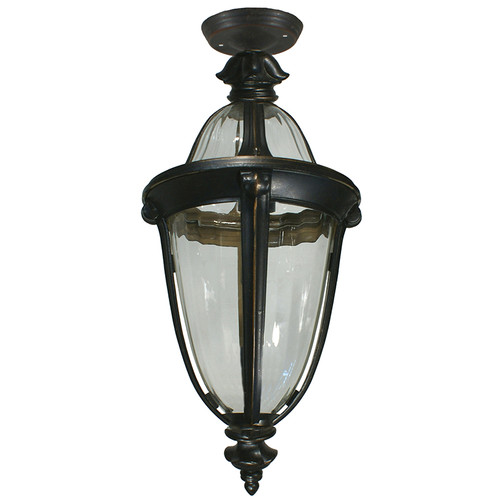 Mayfair Exterior Antique Bronze Under Eave Light
