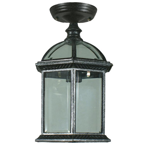 Station Exterior Antique Black Under Eave Light