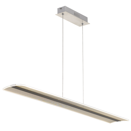 Salta Linear Nickel Opal LED Pendant Light