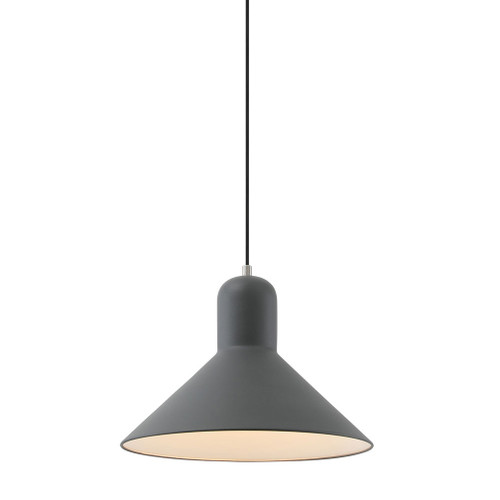Mata Black Wide Cone Pendant Light