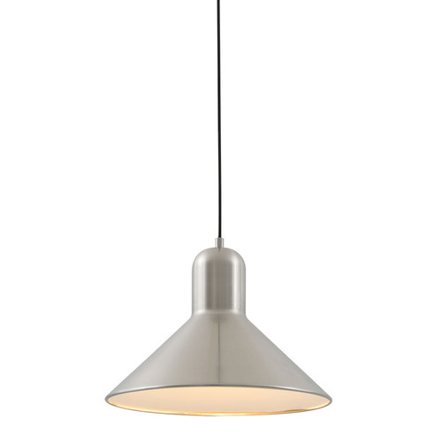Mata Nickel Wide Cone Pendant Light