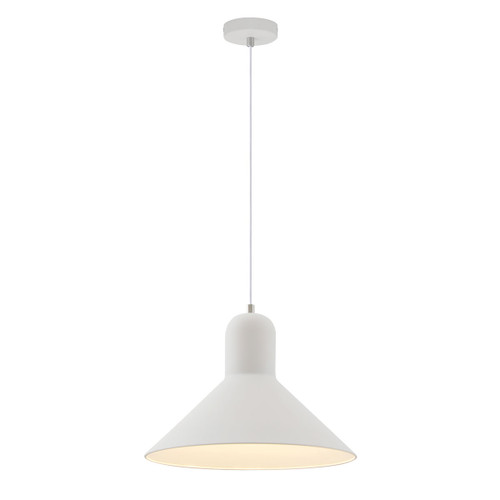 Mata White Wide Cone Pendant Light