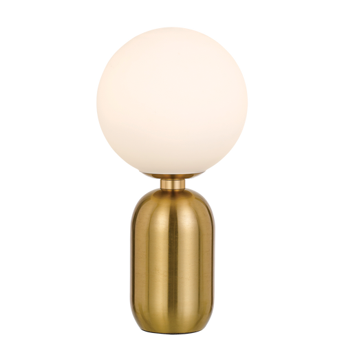 Torcia Round Opal Gold Table Lamp