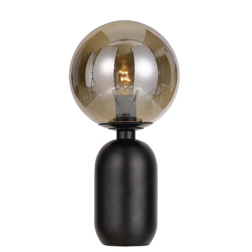 Torcia Round Black Smoke Table Lamp