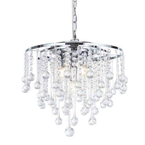 Parma Rain Drop Chrome Crystal Chandelier