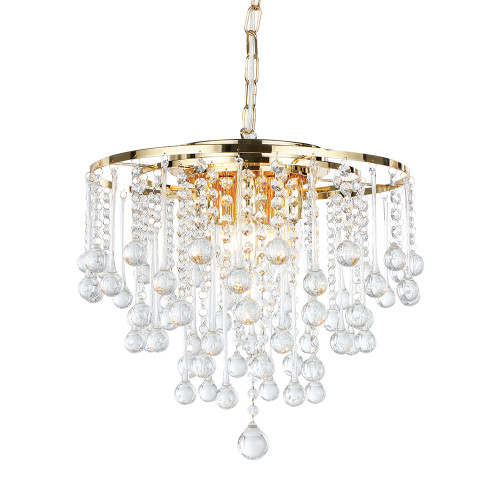Parma Rain Drop Gold Crystal Chandelier