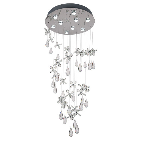 Florence 9 Light Round Crystal Chandelier - Medium