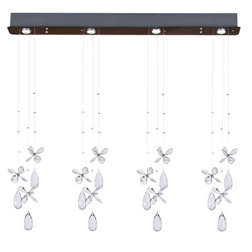 Florence 4 Light Bar Crystal Chandelier