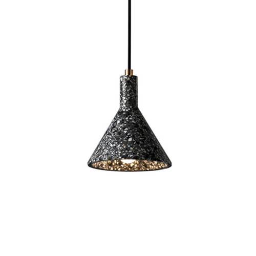 Terrazo Cone LED Pendant Light - Black