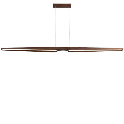 Charleston Walnut Linear LED Pendant Light