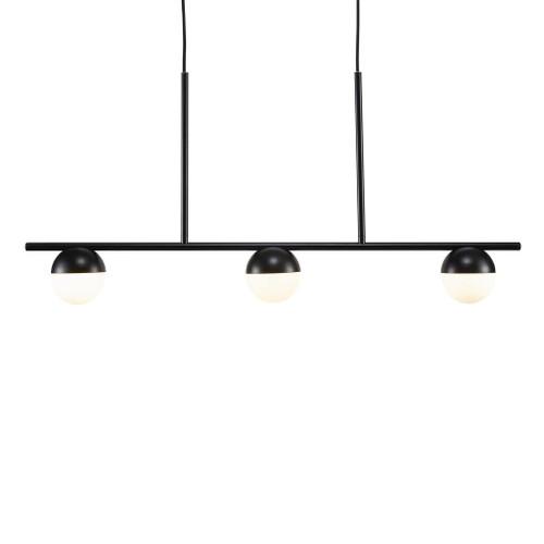 Contina 3 Light Linear Black Modern Pendant Light