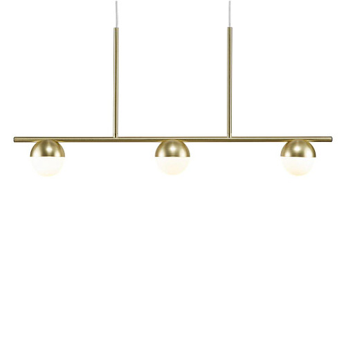 Contina 3 Light Linear Brass Modern Pendant Light