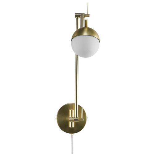 Contina Long Arm Brass Adjustable Wall Light