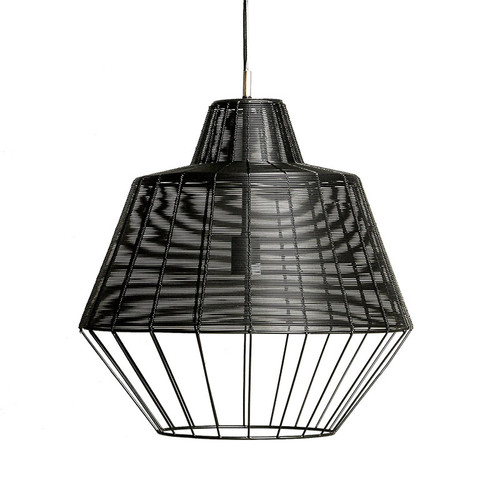 Del Rio Iron Black Industrial Pendant Light