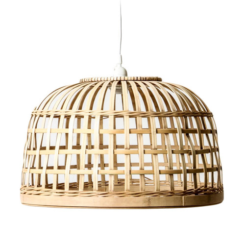 Lincoln Split Cane Woven Pendant Light