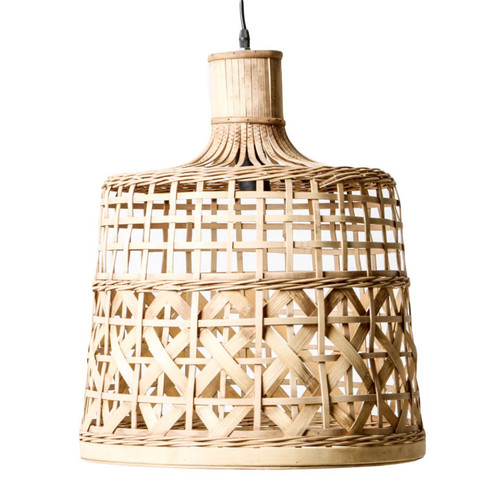 Mallorca Woven Basket Natural Pendant Light