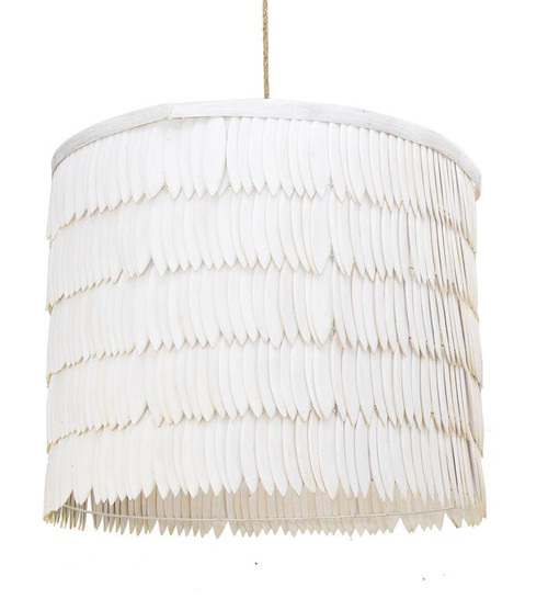 Wooden Drum Cuttlefish Pendant Light