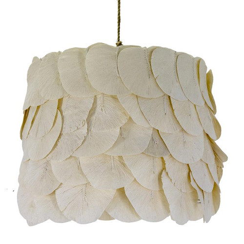 Petal Drum Wooden Cuttlefish Pendant Light