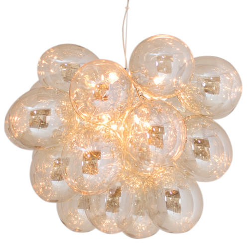 Gross Grande Amber Glass Beads Modern Pendant Light