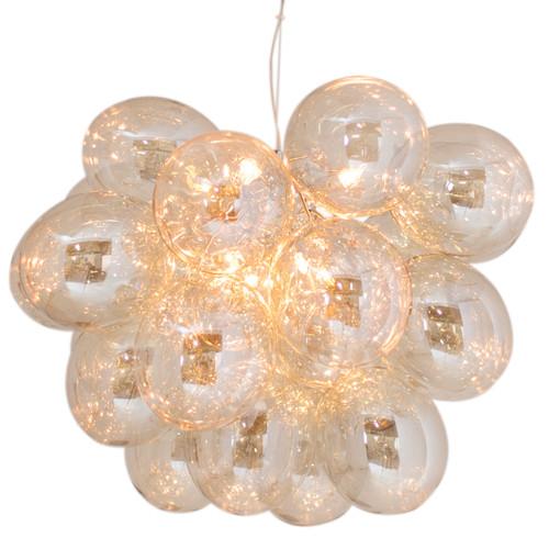 Gross Grande Amber Glass Beads Modern Pendant Light